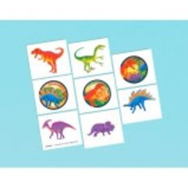 Prehistoric Party Tattoos, 16ct