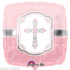 "Communion Blessing Pink Balloon, 18"" (#137)"