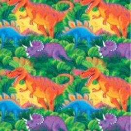 Prehistoric Party Printed Gift Wrap w/Hang Tab