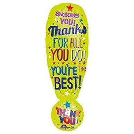 """Thanks Exclamation Shape Balloon, 34"""""""