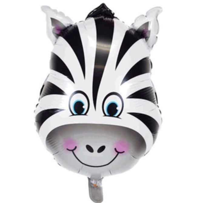 "Zany Zebra Balloon, 32"""