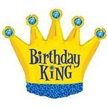 """Birthday King Balloon, 36"""""""