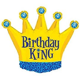 """Birthday King Balloon, 36"""" (#172)"""
