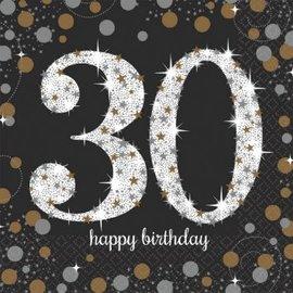 Sparkling Celebration 30 Luncheon Napkins, 16ct