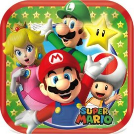 "Super Mario Brothers™ Square Plates, 7"" 8ct."