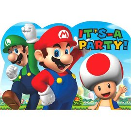 Super Mario Brothers™ Postcard Invitations 8ct
