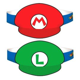 Super Mario Brothers™ Paper Hats 8ct