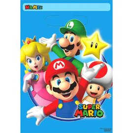 Super Mario Brothers™ Folded Loot Bags 8ct