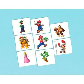 Super Mario Brothers™ Tattoo Favors 16CT