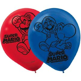 Super Mario Brothers™ Printed Latex Balloons 6ct