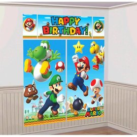 Super Mario Brothers™ Scene Setters® Wall Decorating Kit