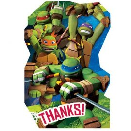 Postcard Thank You TMNT 8Ct