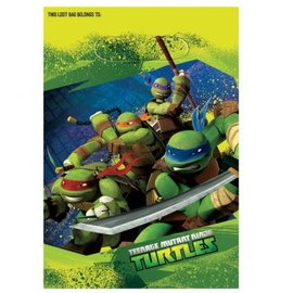 Folded Loot Bag TMNT 8Ct
