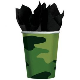 Camouflage 9oz Paper Cups,  8ct.
