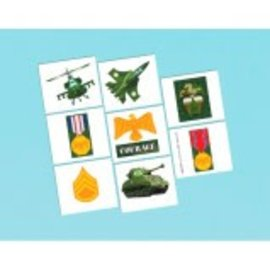 Camouflage Party Tattoos,  16ct