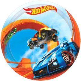 "Hot Wheels Wild Racer™ Round Plates, 7"" 8 ct."
