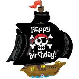 "Pirate Ship Happy Birthday Balloon, 46"" (#195)"