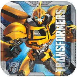 "Transformers™ 7"" Square Plates-8ct"