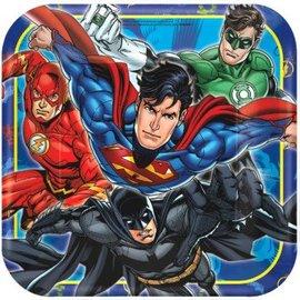 "Justice League™ Square Plates, 9"" 8 ct."