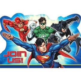 Justice League™ Postcard Invitations 8ct.