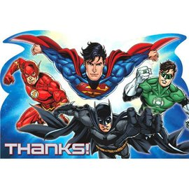 Justice League™ Postcard Thank You Cards 8ct.