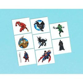 Justice League™ Tattoo Favors 8ct.
