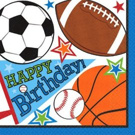 Sports Party Luncheon Napkins-16ct