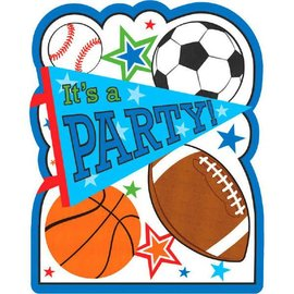 Sports Party Postcard Invitations