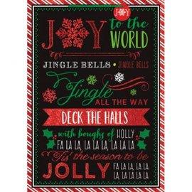 Whimsical Chalkboard Carols - Jumbo Bag