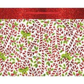 Red & White Candycane Extra Large Horizontal Bag