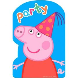 Postcard INVITE PEPPA PIG 8 COUNT