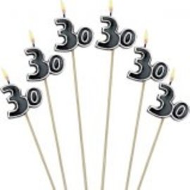 Birthday Cake Candle Stick 30th