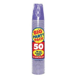 New Purple Big Party Pack Plastic Cups, 16 oz.