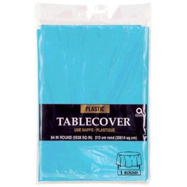 "Table Cover Plastic Round 84"" Caribbean"