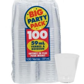 Clear Shot Glasses 2oz 100ct