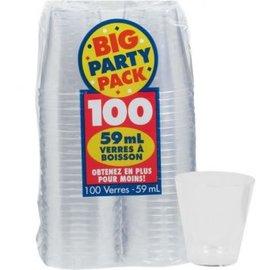 Clear Shot Glasses 2oz 100ct