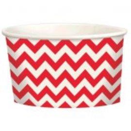Chevron Paper Treat Cups ‑ Apple Red