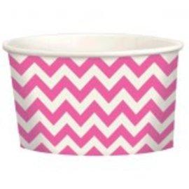 Chevron Paper Treat Cups ‑ Bright Pink
