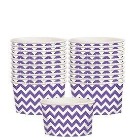 Chevron Paper Treat Cups-New Purple,  20ct