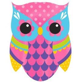 Owl Large Novelty Invites, 8ct
