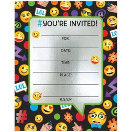 Emoticon Large Novelty Invites, 8ct