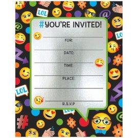 Emoticon Large Novelty Invites, 8ct