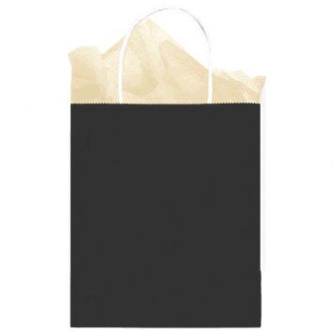 Bag Solid Medium Kraft Black