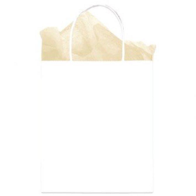 Bag Solid Medium Kraft White
