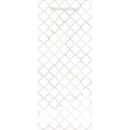 Printed Glossy - White Bottle Bag