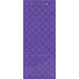 Printed Glossy - Purple Bottle Bag
