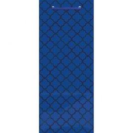 Printed Glossy - Bright Royal Blue Bottle Bag
