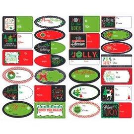 Modern Christmas Adhesive Labels-156ct