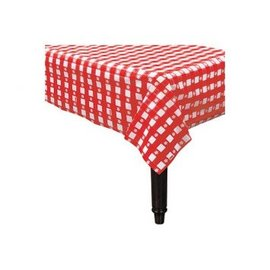"""American Summer Red Gingham Plastic Tablecover, 54"""" x 108"""""""