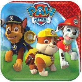 "Paw Patrol™ Square Plate, 7""  - 8ct"